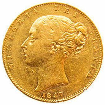 1847 Shield Sovereign in Fine