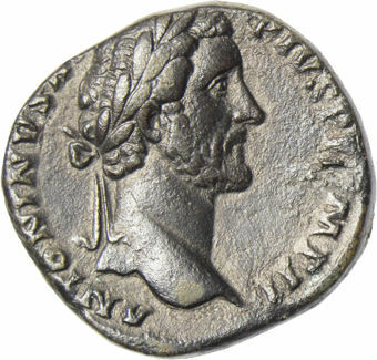 Antoninus Pius, AD 138-161, AE Sestertius, Rev. Pax Standing_obv