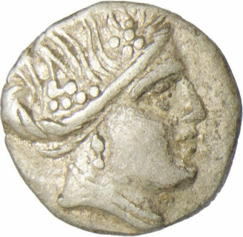 Histiaia, Euboia, ca. 340-330BC, Silver Tetrobol_obv
