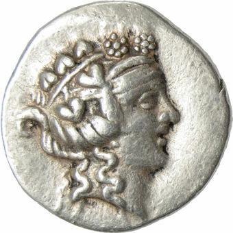 Islands off Thrace, Thasos, AR Tetradrachm (29mm), Head Of Dionysos_obv