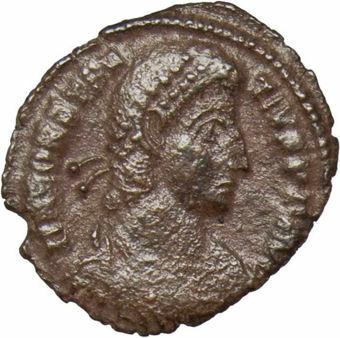 Constantius II Bronze Fine Soldier spearing fallen horseman_obv
