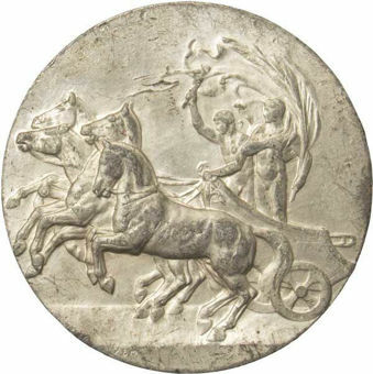 1908_London_Olympics_Official_Commemorative_Medal _obv