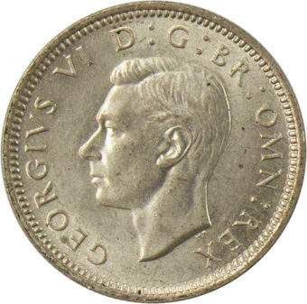 1939 Sixpence_Obv
