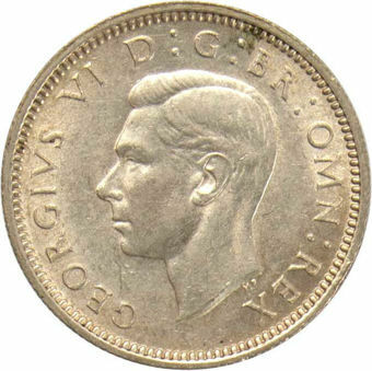 1941 Sixpence_obv