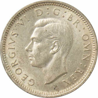 1942 Sixpence_Obv