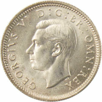 1942 Sixpence  Choice Uncirculated_obv