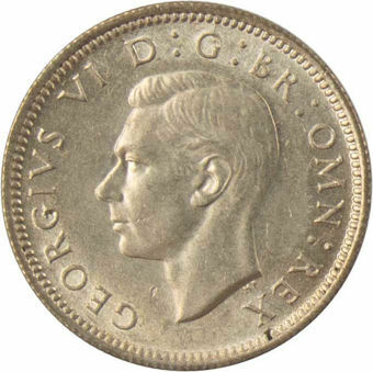 1943 Sixpence_obv