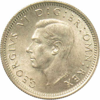 1949 Sixpence_obv