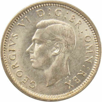 1940 Silver Threepence_obv