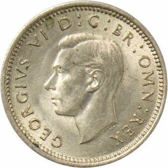 1941 Silver Threepence_obv