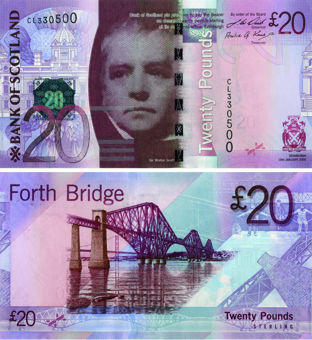 Bank  Scotland £20 2009  P126 Unc