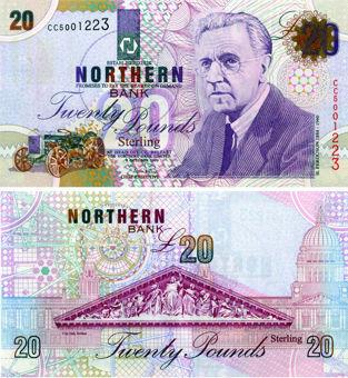 N Ireland Northern Bank £20 1999 P199b  AUnc