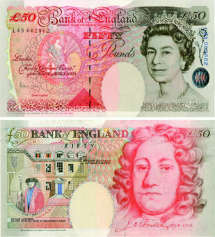 Andrew Bailey Historical £50 B404 Unc_obv