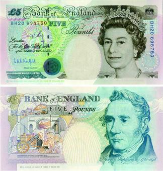 G E A Kentfield Historical £5 B364 Unc