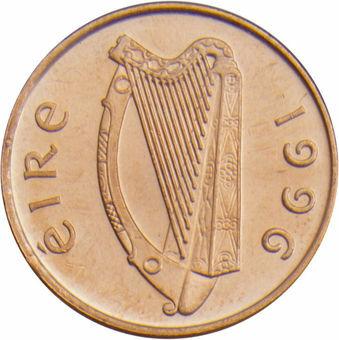 Ireland, 1p 1996 BU_obv
