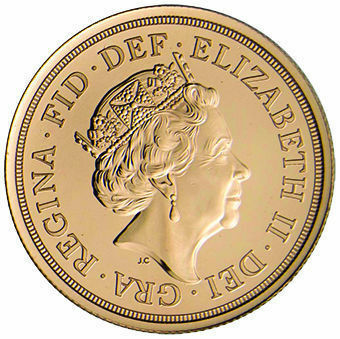 2021 £2 Gold in Brilliant Uncirculated_obv