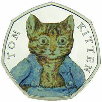 2017 50p Tom Kitten in Colour Silver Proof_obv