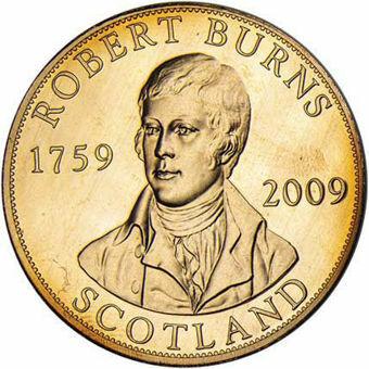 Robert Burns Scottish Pattern 5 Ecu Goldine_obv