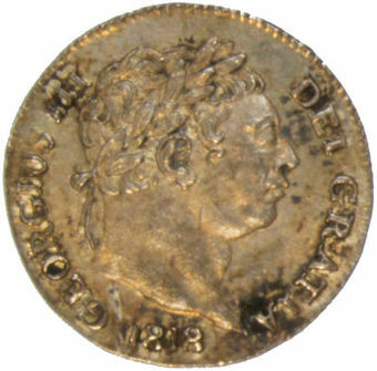 1818 Maundy Penny Unc_obv
