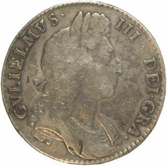 Halfcrown 1697 First bust Fine_obv