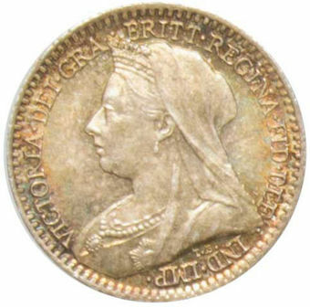 Victoria, 1900  Maundy Penny (Old Head)  Gem Uncirculated_obv