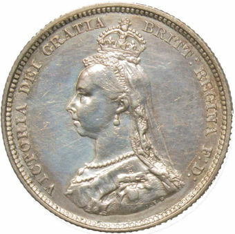 1888 Shilling (Jubilee Head) Extremely Fine_obv