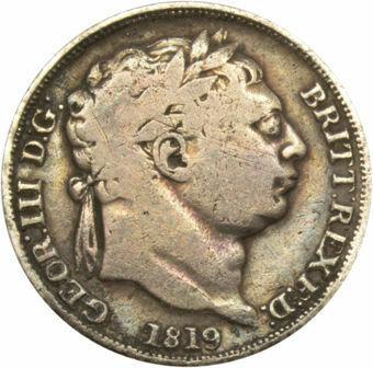 George III, 'Bull Head' Sixpence Very Good_Obv