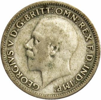 1930 Sixpence Circulated_obv