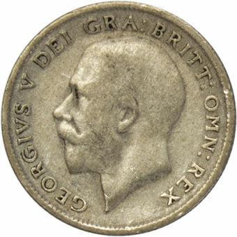1920 Sixpence Circulated_obv