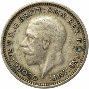 1936 Threepence (Silver .500) Circulated_obv