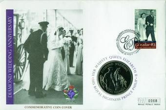 Diamond Wedding Dress £5 Coin Cover_obv
