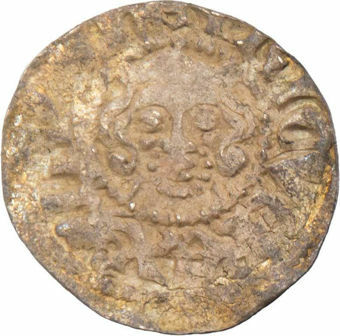 Edward I, 1272-1307. Posthumous Phase Long Cross Penny in the name of Henry III. Bury St Edmunds Mint. Good Very Fine_obv