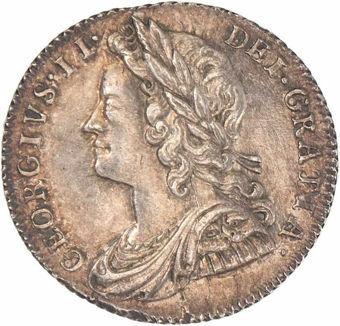 George II, 1728 Sixpence EF_obv