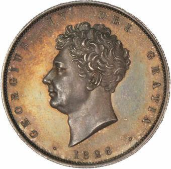 George IV, 1826 Halfcrown (Milled edge Proof)_obv