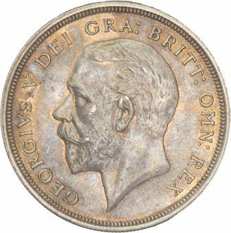 George V, 1928 Crown Unc_obv