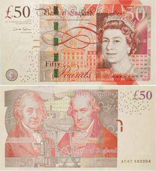 Chris Salmon £50 Boulton/Watt nd (2011) B410 Unc