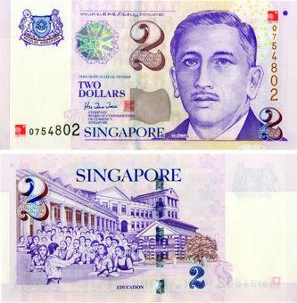 Singapore 2 Dollars Millennium P45